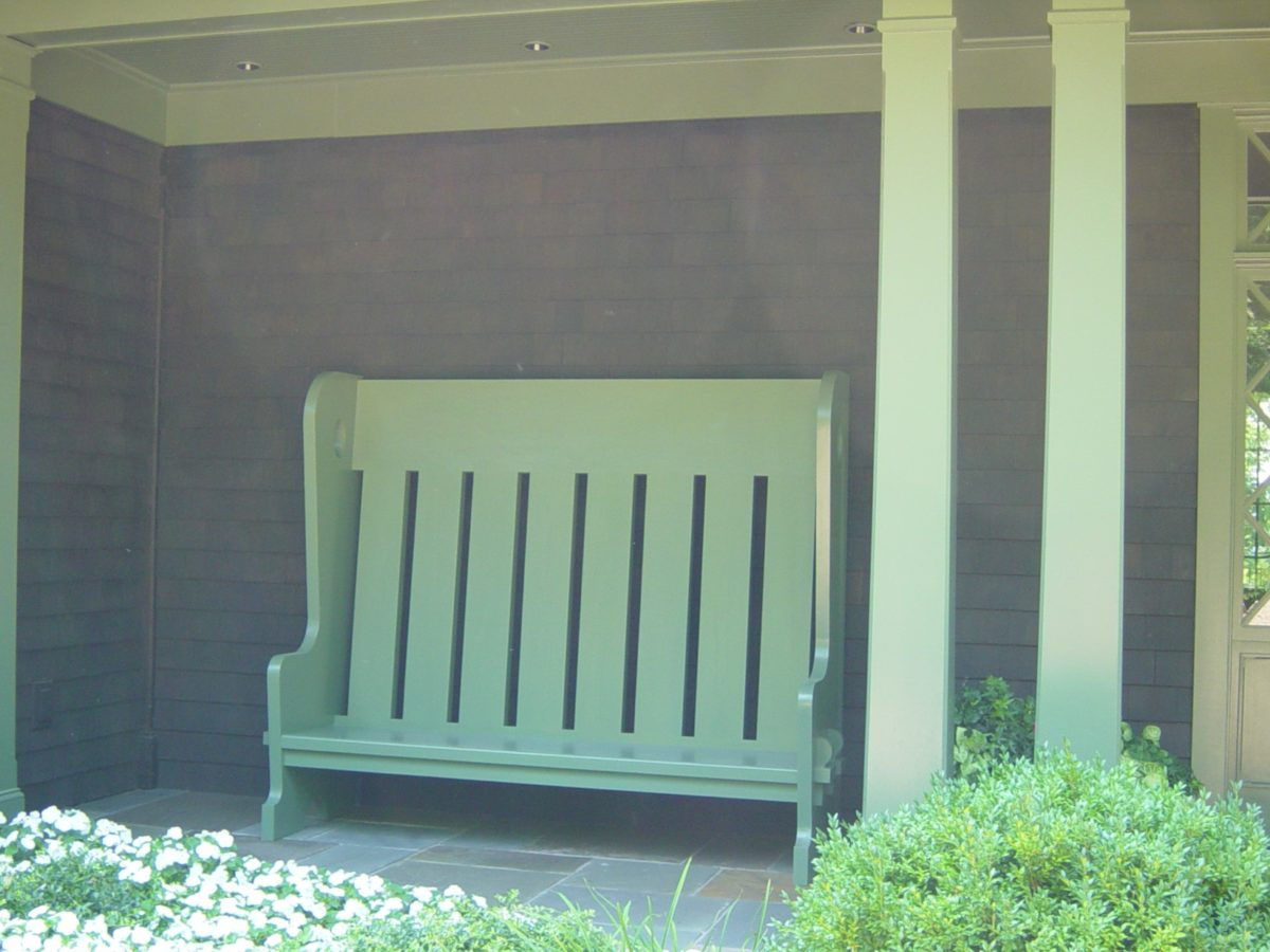 arts u0026 crafts style front porch bench