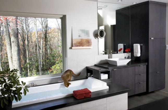 modern-style bathroom cabinetry
