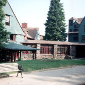 Front view of Peacock Alley at Manor Inn