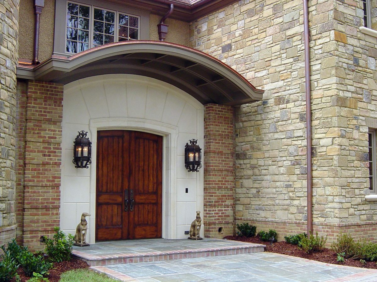 900 #446130 Front Entranceway With Arched French Doors save image Exterior Arched Doors 45071200