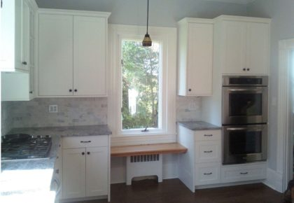 remodel of kitchen with new cabinets