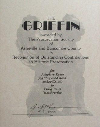 Griffin Historic Restoration Award 2006