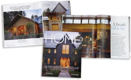 Carolina Home + Garden with article of home we worked on