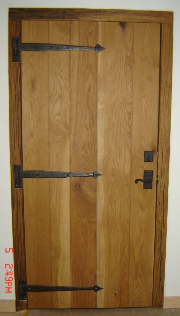 Interior z-batten door & Lake James Camp | Architectural Woodcraft
